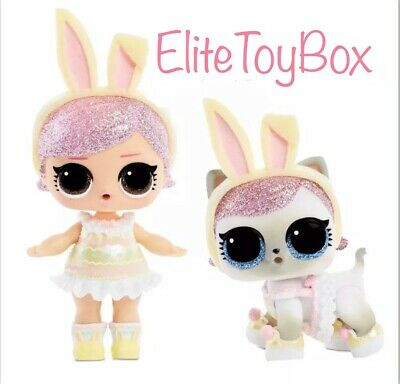 LOL Surprise SPRING BLING Easter Hops Big Sister Doll & Kit-Tea Pet SET 2 Balls