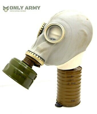 Russian Army Full Face Rubber Gas Mask With Filter NBC Respirator Soviet USSR