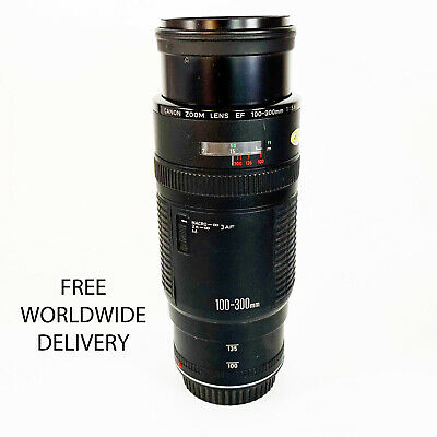 3828 Vintage Canon EF 100-300 zoom lens with a Hama UV390 (0-Haze) M58 filter