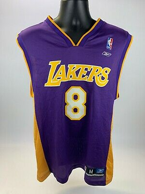 Kobe Bryant #8 Los Angeles Lakers 96-97 Rookie Throwback Jersey - Purple / Gold