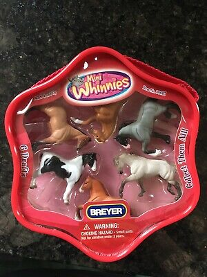 Breyer Mini Whinnies Horses. 6 Drafts. New In Package