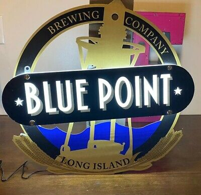 Blue Point Brewing Company Led Beer Bar Sign Man Cave Light Lighthouse