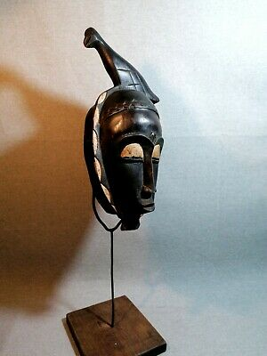African mask Tribe Wood Tribal Wall Hand Vintage Art Wooden Face Decor 1341