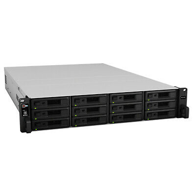 New  Synology Rx1217 Disk Array Rack (2U) Black RX1217