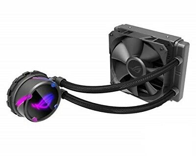 Asus Rog Strix Lc 120 Rgb All-In-One Liquid Cpu Cooler,Aura Sync, Single Rog