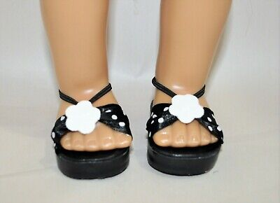 "Fits American Girl Doll Our Generation 18"" Dolls Clothes Shoes Black  Sandals"