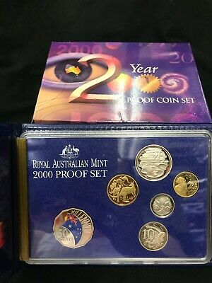 2000 six coin Millennium Year PROOF SET  Royal Australia Mint