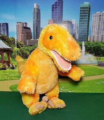 Build a Bear Workshop Velociraptor Dinosaur Plush Orange BABW Stuffed Dino Toy