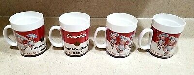 Vintage 1994 Lot of 4 Campbell's Soup Plastic Mugs.