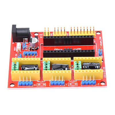 1 x Red CCL CNC V4 engraving machine expansion board For Arduino GRBL E5K6