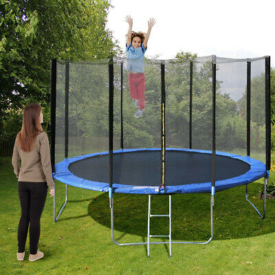 14' Trampoline Combo With Safety Enclosure Net Pad and Ladder Large Outdoor Kids