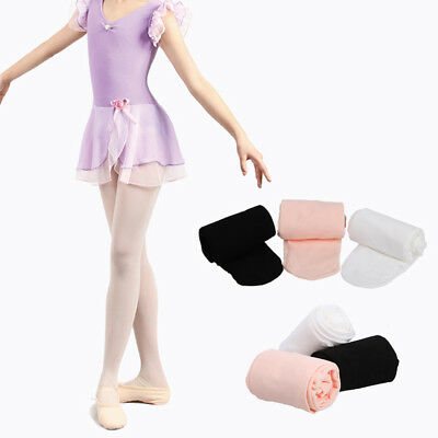 Children's Convertible Ballet Tights Girls Dance Tights in 100 Den Ages 3-13
