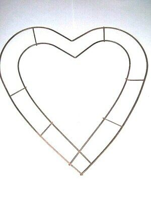 "2 x 10.5"" x 12"" Heart Wire Frame Hanging Decoration Wreath Weddings Copper"