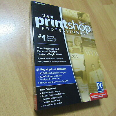 Broderbund PrintShop Professional 4 Print Shop GENUINE Brand-NEW