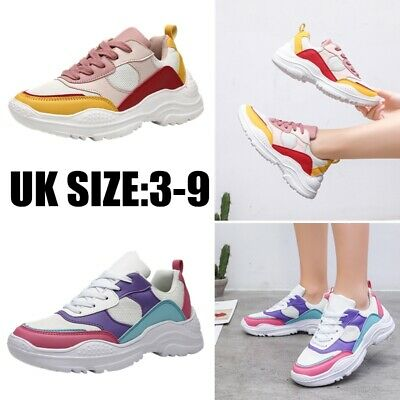 Womens Ladies Running Trainers Gym Shock Absorbing Sports Fitness Shoes Size Air