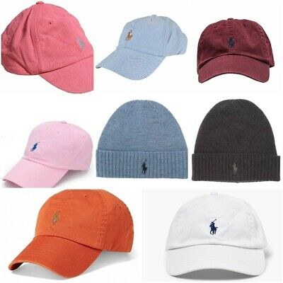Polo Ralph Lauren Men Baseball Cap Hat Beanies - Red , Black White Blue Burgund