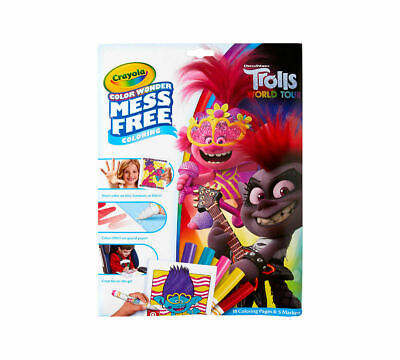 Crayola Trolls 2 Colour Wonder Mess Free 18 Colouring Pages  - FAST DELIVERY