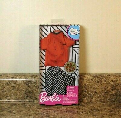 Barbie Complete Look Fashion Pack Career Pizza Chef Outfit NEW