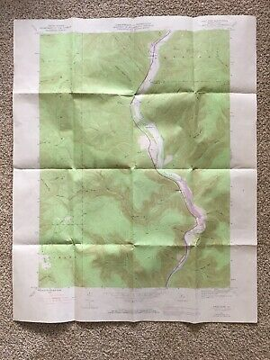 First Fork PA Potter Cty USGS Topographical Geological Survey Quadrangle Map