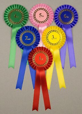 Classic1-Tier Rosettes, Set 1st-3rd 1st-4th or 1st - 6th. Horse, Dog, any event