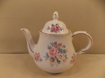 Arthur Wood & Son Teapot #6040 with Pink Roses