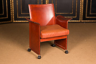 High-Quality Designer Chair from Matteo Grassi Korium Saddle Leather