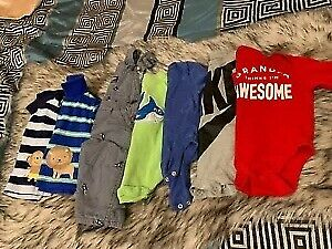 7 piece lot of baby boy clothes size 3-6 months