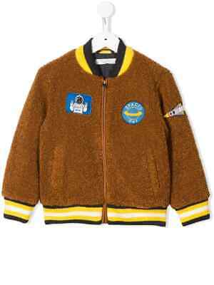 NWT $242 Stella McCartney Kids Teddy Bomber Jacket with Space Patches 14 Y