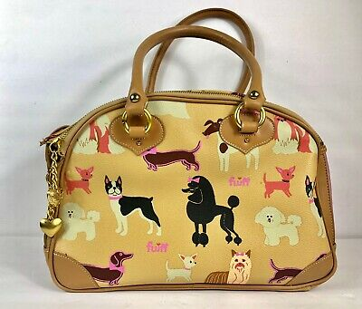 Fashion Dog Purse Faux Leather Small Dog Pattern Carrier Luxury Travel Carrying