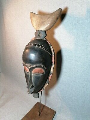 African mask Tribe Wood Tribal Wall Hand Vintage Art Wooden Face Decor 1339