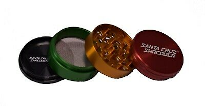 "Large 2.75"" Rasta 4 Piece SANTA CRUZ SHREDDER Grinder Glossy Finish"