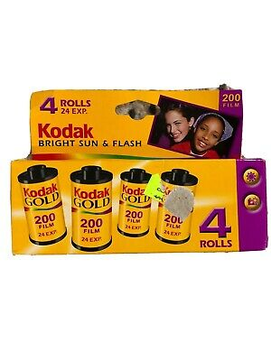 Kodak Bright Sun & Flash 200 Gold 35 mm Film 24 Exp 4 Rolls Box  EXP 2/2006