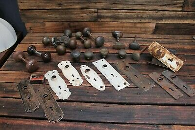 Bulk Antique Vintage Brass Door Knob Handle Furniture Escutcheon Plate