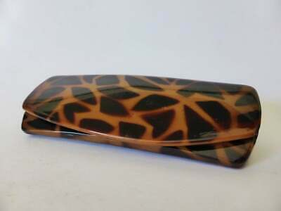 1950s Giraffe Pattern Glasses Case, Vintage, Early Plastic Sunglasses Case