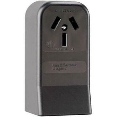 Pass & Seymour 385CC6 3 Pole 3 Wire Surface Mount Range Outlet, 50-Amp,