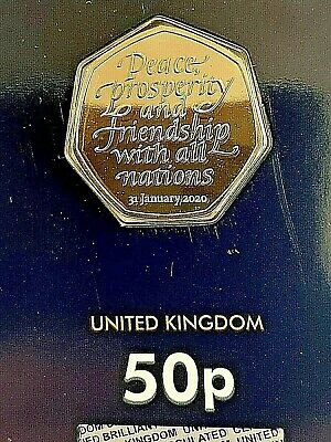 Brand New Brexit 50p fifty pence coin 2020 BRILLIANT UNCIRCULATED BUNC RARE