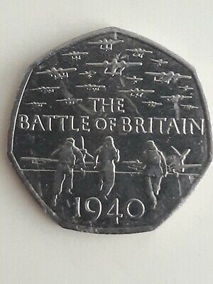 2015 Battle of Britain 50p Fifty Pence Collectable rare, British Coin Hunt Cheap