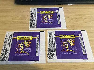 Star Trek - The Movie - Wax Pack Card Wrappers - BULK LOT of 10 - 1979 Topps