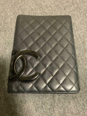 Authentic CHANEL Vintage CC Logo Notebook Cover Size A5