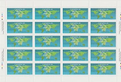 Canada, 1999 Sheet of 20, Universal Postal Union 1806 MNH