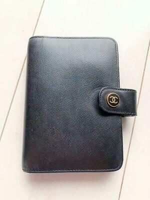 Authentic CHANEL Vintage CC Logo Notebook Cover