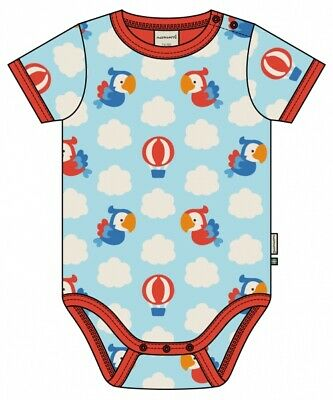 Maxomorra SS Baby Body in Parrot Safari print - Size 62/68cm (3-6 months)