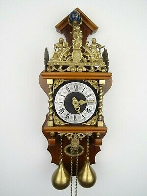 Zaanse Warmink Dutch Wall Clock Vintage Antique 8 day(Hermle WUBA Junghans Era)