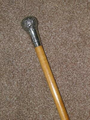 Vintage Repousse Silver Plate Walking Stick/Cane With Vacant Cartouche - 90cm