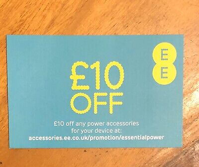 EE £10 OFF Online Voucher Any Power Accessories