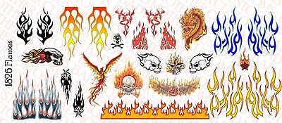 1//18 Scale Tattoos for Action Figure tattoos Music /& Guitars Waterslide Decals