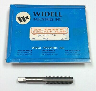 7/16-20 H6 4-Flute STI Plug Tap (Pack of 3) Widell
