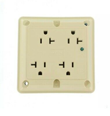 Leviton 20 Amp Industrial Grade Heavy Duty 4-in-1 Grounding Surge Outlet