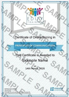 Principles of Communication - Online E-Learning - CPD Approved
