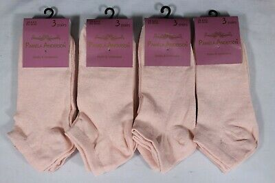 240 Pairs Ladies Womens Girls Peach GYM Trainer Liner Socks Job Lot Size 4-6 New